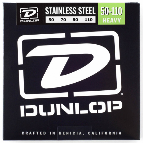 ​Струны для бас-гитары Dunlop 50-110 Stainless Steel Bass Heavy DBS50110