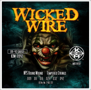 ​Струны для электрогитары KERLY KXW-0942 Wicked Wire NPS Round Wound Tempered 9-42