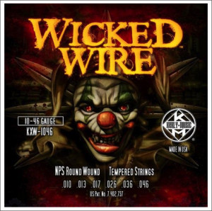 ​Струны для электрогитары KERLY KXW-1046 Wicked Wire NPS Round Wound Tempered 10-46