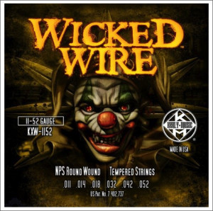 ​Струны для электрогитары KERLY KXW-1152 Wicked Wire NPS Round Wound Tempered 11-52