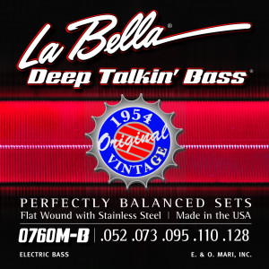 Струны для бас-гитары La Bella 0760M-B Deep Talkin' Bass сталь 52-128