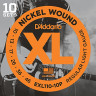 ​Струны для электрогитары D'Addario EXL110-10P Regular Light Nickel Wound 10-46, 10 комплектов