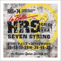 ​Струны для электрогитары La Bella HRS-74 Hard Rockin Steel 10-70