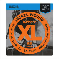 Струны для электрогитары D'Addario EXL110-7 10-59 Nickel Wound