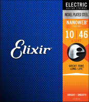 Струны для электрогитары Elixir 12052 Nanoweb Light 10-46​