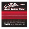 ​Струны для бас-гитары La Bella 750N 50-105 Black Nylon Tape Wound​