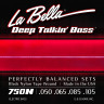 ​Струны для бас-гитары La Bella 750N Black Nylon Tape Wound​ 50-105