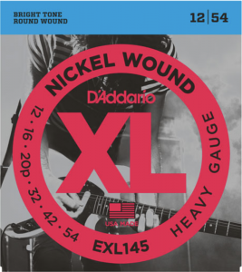 ​Струны для электрогитары D'Addario EXL145 Heavy Plain 3rd Nickel Wound 12-54