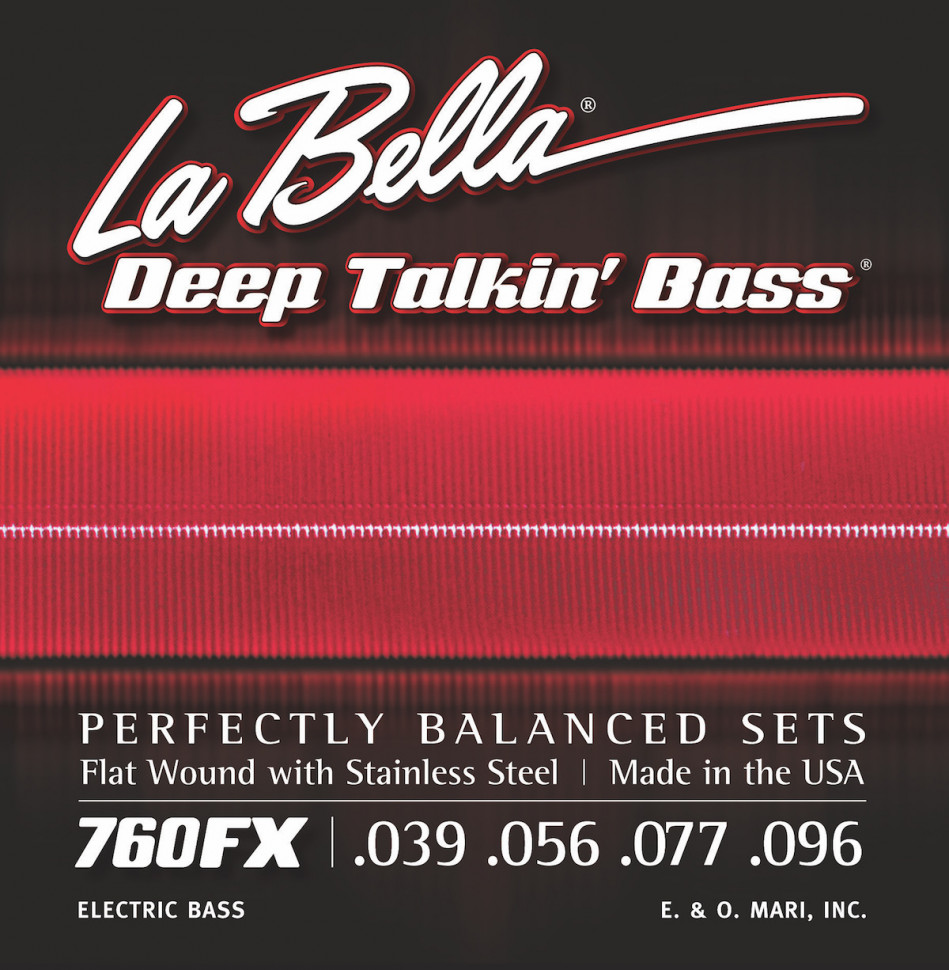 ​Струны для бас-гитары La Bella 760FX 39-96 Flat Wound Stainless Steel