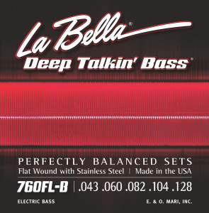Струны для бас-гитары La Bella 760FL-B Deep Talkin Bass Flats Stainless Steel 43-128