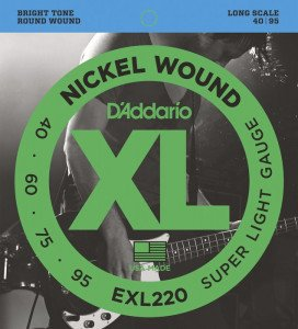 ​Струны для бас-гитары D'Addario EXL220 Super Light Nickel Wound 40-95