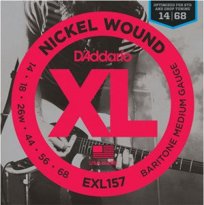 Струны для электрогитары D'Addario EXL157 Baritone Medium Nickel Wound 14-68