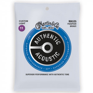 Martin MA535 Authentic Acoustic SP 92/8 Phosphor Bronze Custom Light 11-52 струны для акустической гитары