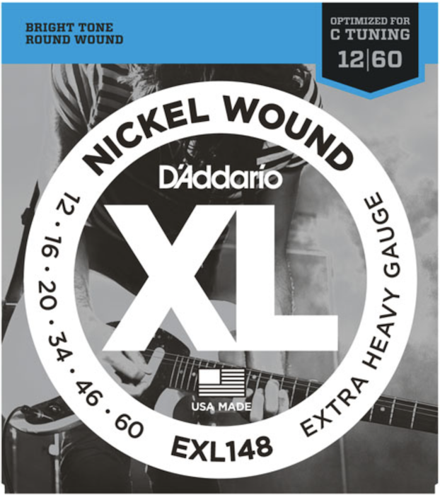 Струны для электрогитары D'Addario EXL148 Extra Heavy Nickel Wound 12-60