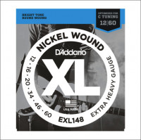 Струны для электрогитары D'Addario EXL148 12-60 Nickel Wound