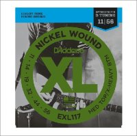 Струны для электрогитары D'Addario 11-56 EXL117 XL Nickel Wound