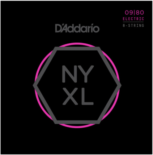 ​Струны для электрогитары D'Addario NYXL0980 8-String Super Light 9-80