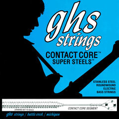 Струны для бас-гитары GHS 5M-CC 5-String Contact Core Super Steels Medium 45-129