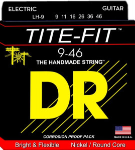 DR Strings LH-9 Tite-Fit Nickel Plated Electric 9-46 струны для электрогитары