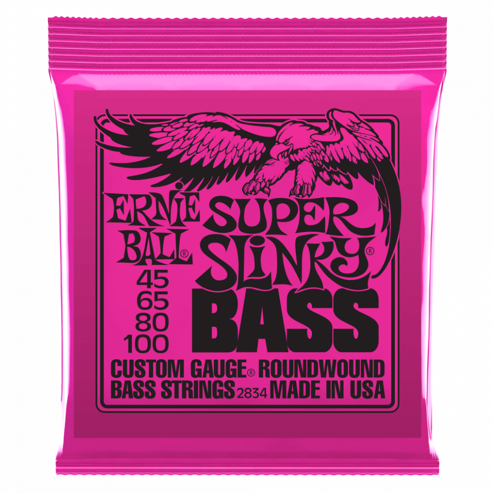 Струны для бас-гитары Ernie Ball 2834 Super Slinky Nickel Wound Bass 45-100