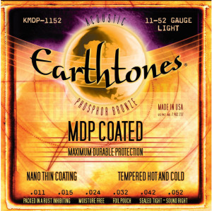 ​Струны для акустической гитары Kerly KMDP-1152 Earthtones Phosphor Bronze MDP Coated Tempered, 11-52
