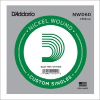 Одиночная струна для электрогитары D'Addario 0.60 NW060 Nickel Wound
