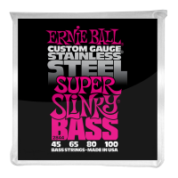 Струны для бас-гитары Ernie Ball 2844 Super Slinky Bass Stainless Steel 45-100