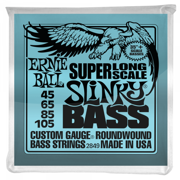Струны для бас-гитары Ernie Ball 2849 Super Long Scale Slinky Nickel Wound Bass 45-105