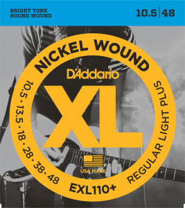 ​Струны для электрогитары D'Addario EXL110+ Regular Light Plus Nickel Wound 10.5-48