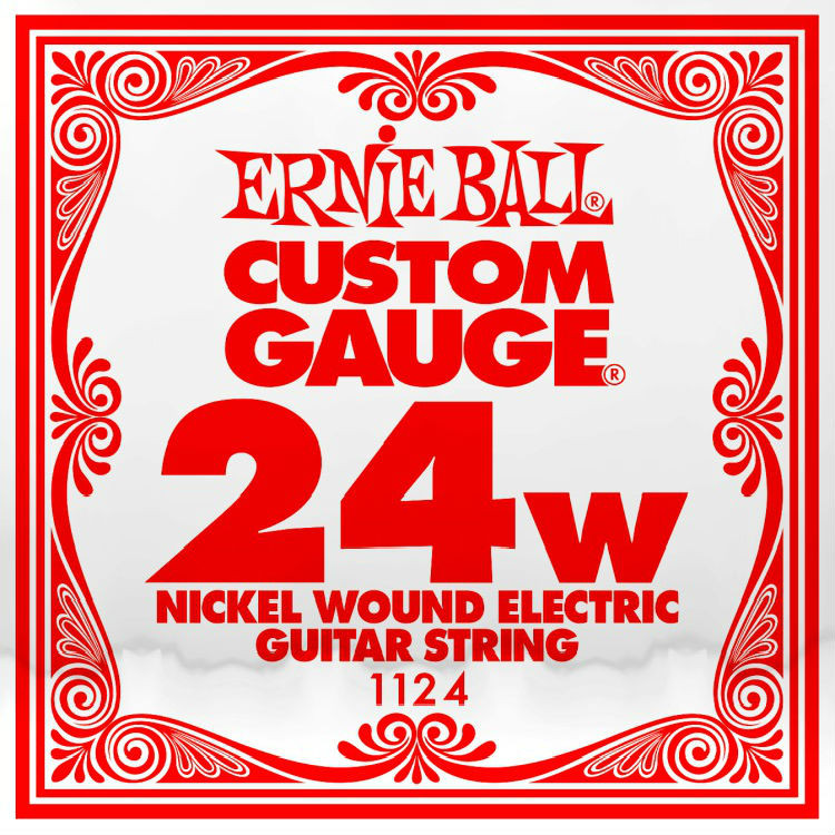​Одиночная струна для электрогитары Ernie Ball 1124, Nickel Wound​, 24
