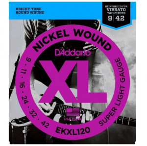 D'Addario EKXL120 струны для электрогитары, Super Light, усиленные, 9-42