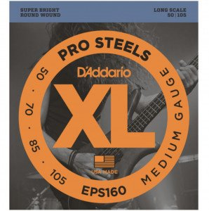 Струны для бас-гитары D'Addario EPS160 ProSteels Bass Medium 50-105 Long Scale