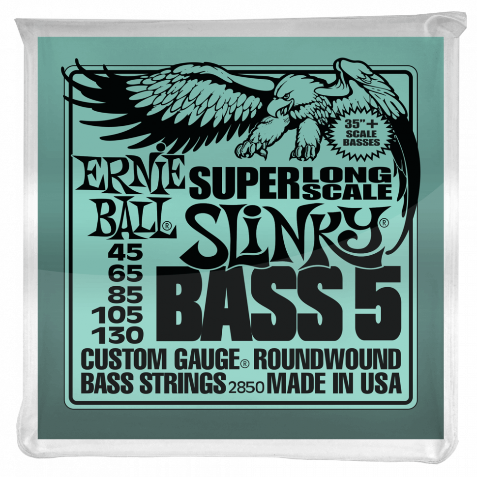 Струны для бас-гитары Ernie Ball 2850 Super Long Scale Slinky 5-string Nickel Wound Bass 45-130