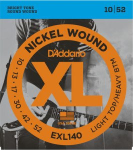 Струны для электрогитары D'Addario 10-52 EXL140 Light Top Heavy Bottom Nickel Wound