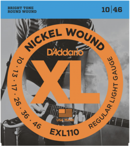 Струны для электрогитары D'Addario 10-46 EXL110 Nickel Wound Regular Light​