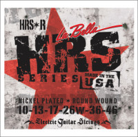 ​Струны для электрогитары La Bella HRS-R Hard Rockin Steel​ Regular 10-46
