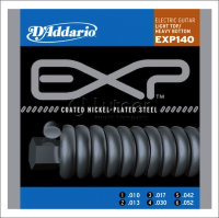 Струны для электрогитары D'Addario 10-52 EXP140 Coated Nickel