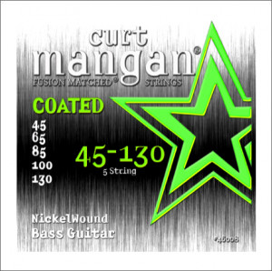 ​Струны для бас-гитары Curt Mangan Nickel Wound Coated Bass Strings 45-130