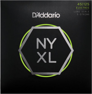 Струны для бас-гитары D'Addario NYXL45125 Light Top Med Bottom NYXL 45-125