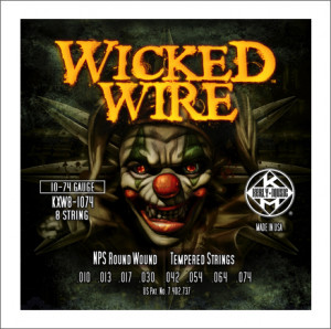 Струны для электрогитары Kerly KXW8-1074 Wicked Wire 8 Strings Roundwound Tempered