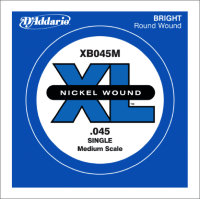 Одиночная струна для бас-гитары D'Addario 45 XB045M Nickel Wound