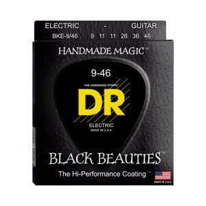 DR BKE-9/46 Black Beauties Electric 9-46 струны для электрогитары