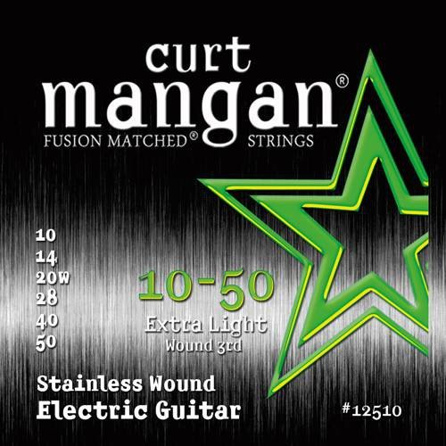 ​Струны для электрогитары Curt Mangan Stainless Wound Electric 10-50 12510