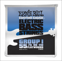 Струны для бас-гитары Ernie Ball 2802 55-110 Flat Wound Bass Group I