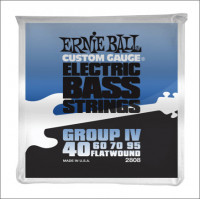 Струны для бас-гитары Ernie Ball 2808 40-95 Flat Wound Bass Group IV