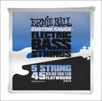 ​Струны для бас-гитары Ernie Ball 2810 45-130 Flat Wound Bass 5