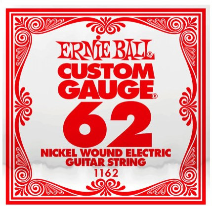 Одиночная струна для электрогитары Ernie Ball 1162, Nickel Wound, 62