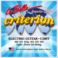 ​Струны для электрогитары La Bella C200T Criterion Light 9-42