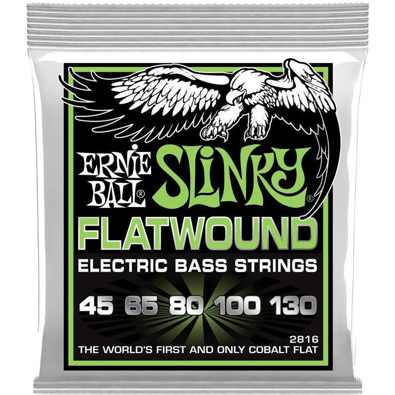 Струны для бас-гитары Ernie Ball 45-130 2816 Flatwound