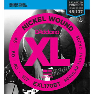 Струны для бас-гитары D'Addario 45-107 EXL170BT Nickel Wound